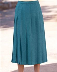 Naples Pure Wool Pleated Skirt