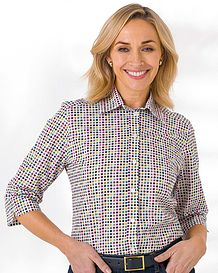 Tilly Patterned Pure Cotton Blouse