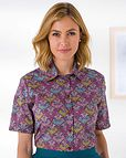 Zelda Patterned Liberty Print Tana Lawn Blouse