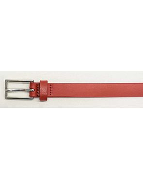 Narrow Leather Belts - Red